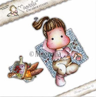 Magnolia Stamps - Recipe Card - Picnic Tilda With Basket 1