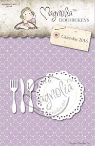 Magnolia Stamps DooHickey - Plate and Cutlery