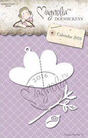 Magnolia Stamps DooHickey - Rose and Heart Tag