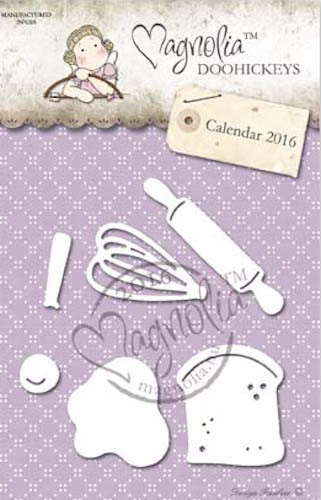 Magnolia Stamps DooHickey - Beater, Rolling Pin, Egg and Bread