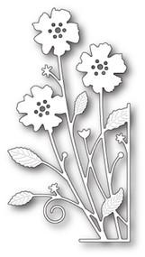 Memory Box Die - Large Antilles Floral Right Corner- Craft Die (MB-99690)
