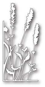 Memory Box Die - Lavender Stems Left Corner- Craft Die (MB-99688)