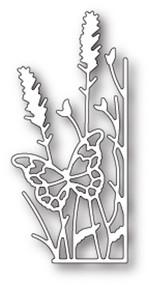 Memory Box Die - Large Lavender Butterfly Right Corner- Craft Die (MB-99685)