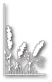 Memory Box Die - Small Lavender Stems Left Corner- Craft Die (MB-99636)