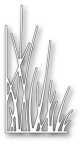 Memory Box Die - Tall Grass Stems Left Corner - Craft Die (MB-99645)