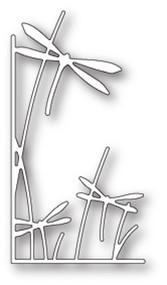 Memory Box Die - Dragonfly Stems Left Corner - Craft Die (MB-99659)