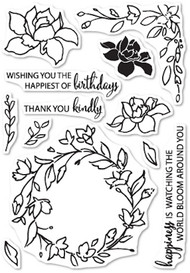 Memory Box Die - Watching the World Bloom - Clear Stamp Set (CL-5197)