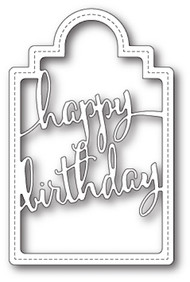 Poppystamps Craft Die - Happy Birthday Tag Craft Die (PS-1713)