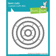 Lawn Fawn - Lawn Cuts - Zig-Zag Circle Stackables (LF1383)