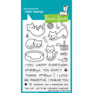 Lawn Fawn - Clear Stamps - 4x6 - Meow Ya Doin (LF1315)