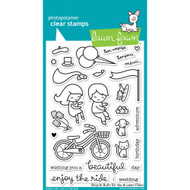 Lawn Fawn - Clear Stamps - 4x6 - Bicycle Built For You (LF1323)