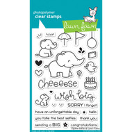 Lawn Fawn - Clear Stamps - 4x6 - Elphie Selfie (LF1328)