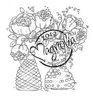 Magnolia Stamps BOUQUETS WITH LOVE - With Love Collection