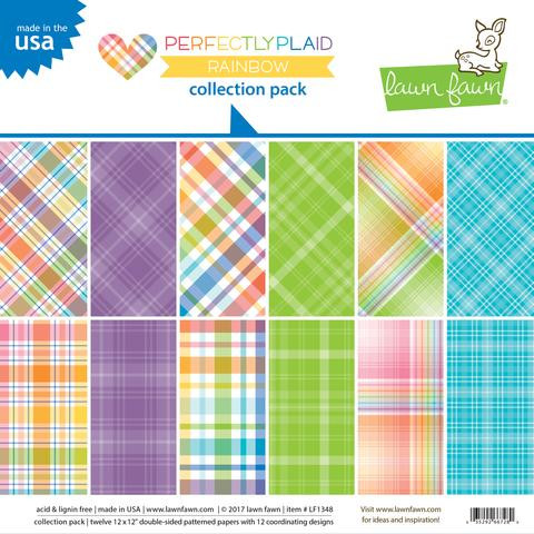 Lawn Fawn - Paper Pack - Rainbow - Perfectly Plaid (LF1348)