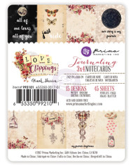 Prima Marketing - Love Clippings - 3x4 Journaling Cards (PM-992101)