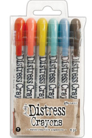Tim Holtz Distress Crayons Set 7