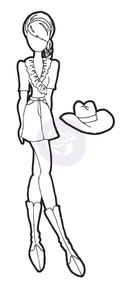 Prima Marketing - Julie Nutting Doll - Stamp - Cassie (PM-911652)