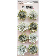 "49 and Market - Vintage Shades Blossoms 1.25"" - Sage"