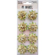 "49 and Market - Vintage Shades Blossoms 1.25"" - Ecru (49M-343391)"