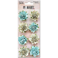 "49 and Market - Vintage Shades Blossoms 1.25"" - Blue (49M-343392)"