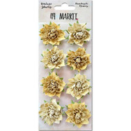 "49 and Market - Vintage Shades Blossoms 1.25"" - Yellow (49M-343406)"