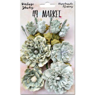 49 and Market - Vintage Shades Bouquet Assorted - Sage (49M-343410)