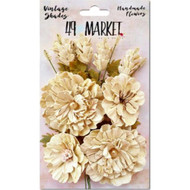 49 and Market - Vintage Shades Bouquet Assorted - Ecru