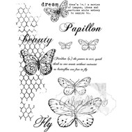 49 and Market - 4x6 Clear Stamps - Gabl's Butterflies are Free (49M-365798)