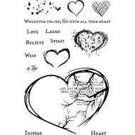 49 and Market - 4x6 Clear Stamps - With All Your Heart (49M-366590)
