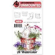 Art Impressions - Watercolor Cling Rubber Stamp - Rustic Container (AI4871)