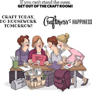Art Impressions - Girlfriends Cling Rubber Stamp - Crafty Girls (AI4890)