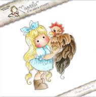 Magnolia Stamps Tilda With Mr. Rooster