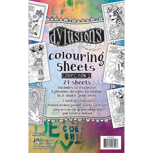"Dyan Reaveley's Dylusions Coloring Sheets #2 5""X8"" (DYA53903)"