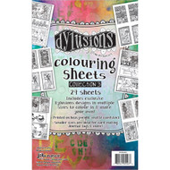 "Dyan Reaveley's Dylusions Coloring Sheets #3 5""X8"" (DYA55433)"