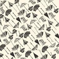 7Gypsies - 12 x 12 Scrapbook Paper - Boots & Brellas On Ivory