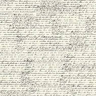 7Gypsies - 12 x 12 Scrapbook Paper - Black & Ivory French Script