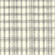 7Gypsies - 12 x 12 Scrapbook Paper - Black & Ivory Plaid
