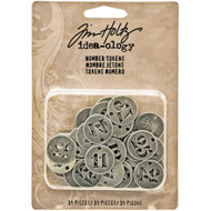 Tim Holtz - Idea-Ology - Metal Number Tokens 31/Pkg (TH93244) 1