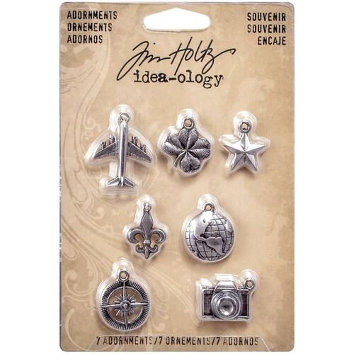 "Tim Holtz - Idea-Ology - Metal Adornments .75"" To 1.1875"" 7/Pkg (TH93215)"