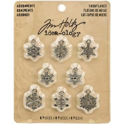 Tim Holtz - Idea-Ology - Metal Adornments Silver Snowflakes (TH93247)