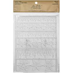 Tim Holtz - Idea-Ology - Frozen Clear Icicle Borders & Snowflakes