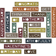 Sizzix Thinlits Dies By Tim Holtz - Sentiment Words