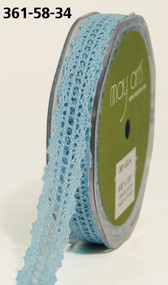 Crochet Lace 5/8 LIGHT BLUE