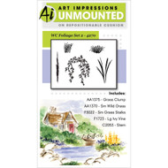 Art Impressions - Watercolor Cling Rubber Stamp - Foliage Set