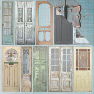 "7 Gypsies Architextures Cardstock 12""X12"" - Painted Doors"