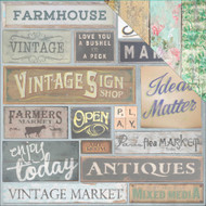"7 Gypsies Architextures Cardstock 12""X12"" - Market Signs"
