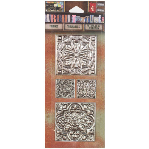 7 Gypsies Architextures Findings Adhesive Embellishments -Tin Ceiling Tiles