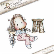 Magnolia Stamps It's Springtime - Forget Me Not Tilda with Pallet