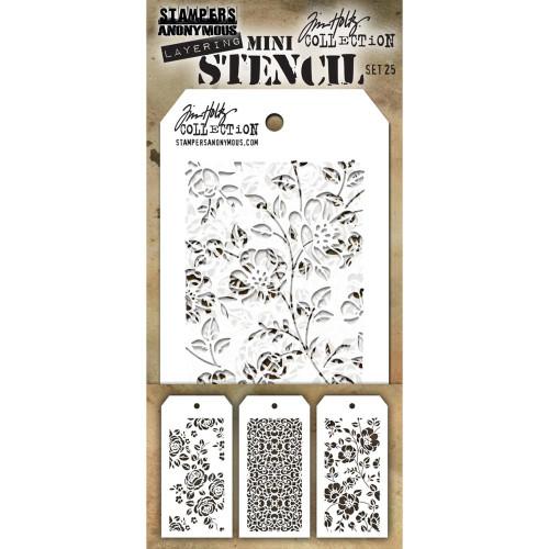 Tim Holtz Mini Layering Stencil - Set 25