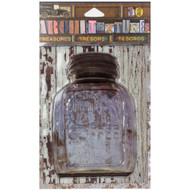 7 Gypsies Architextures Treasures Adhesive Embellishments - Sunshine Coffee Jar W/Metal Lid 4""